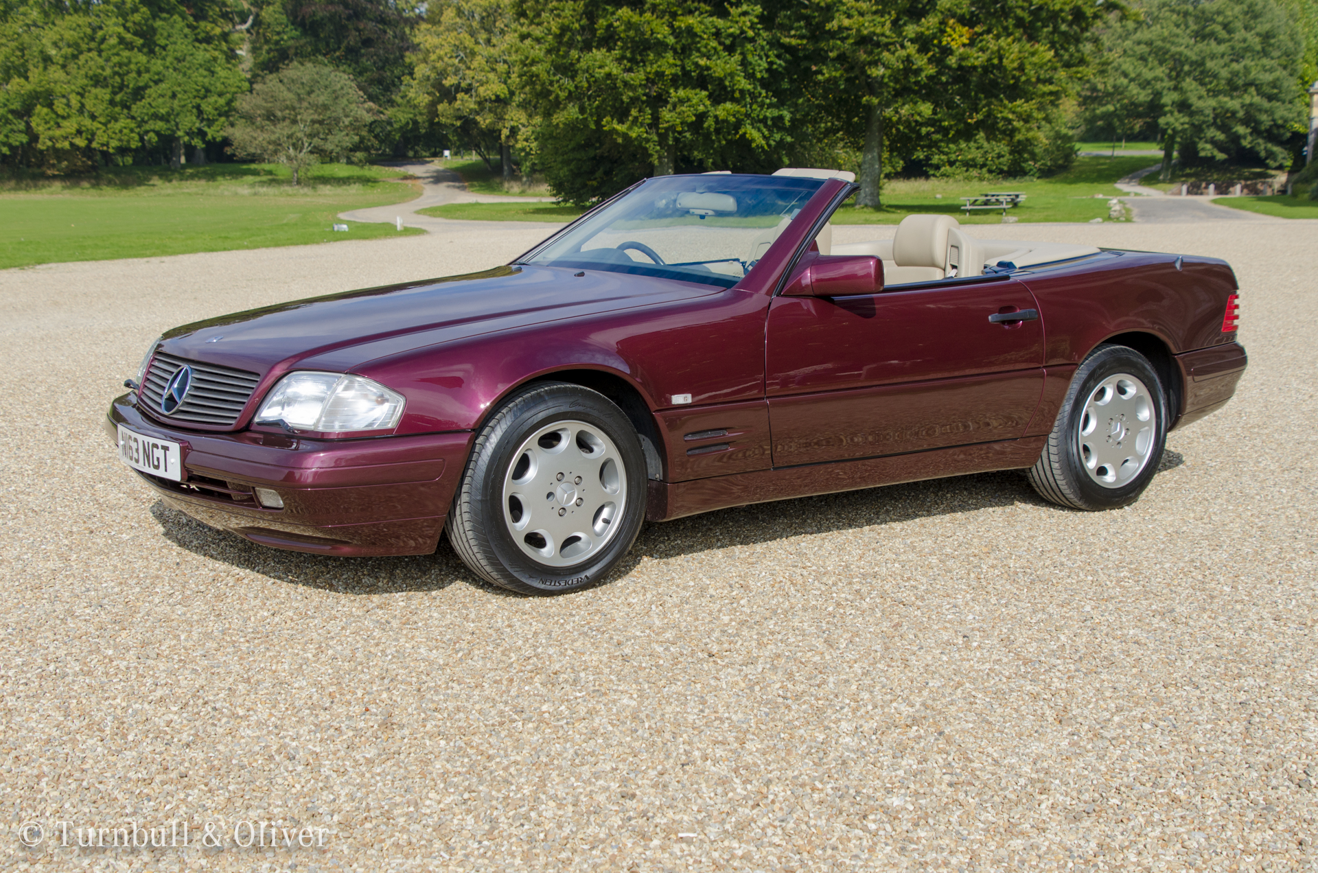 Mercedes benz sl320 beautiful burgundy turnbull oliver for Mercedes benz sl320 for sale
