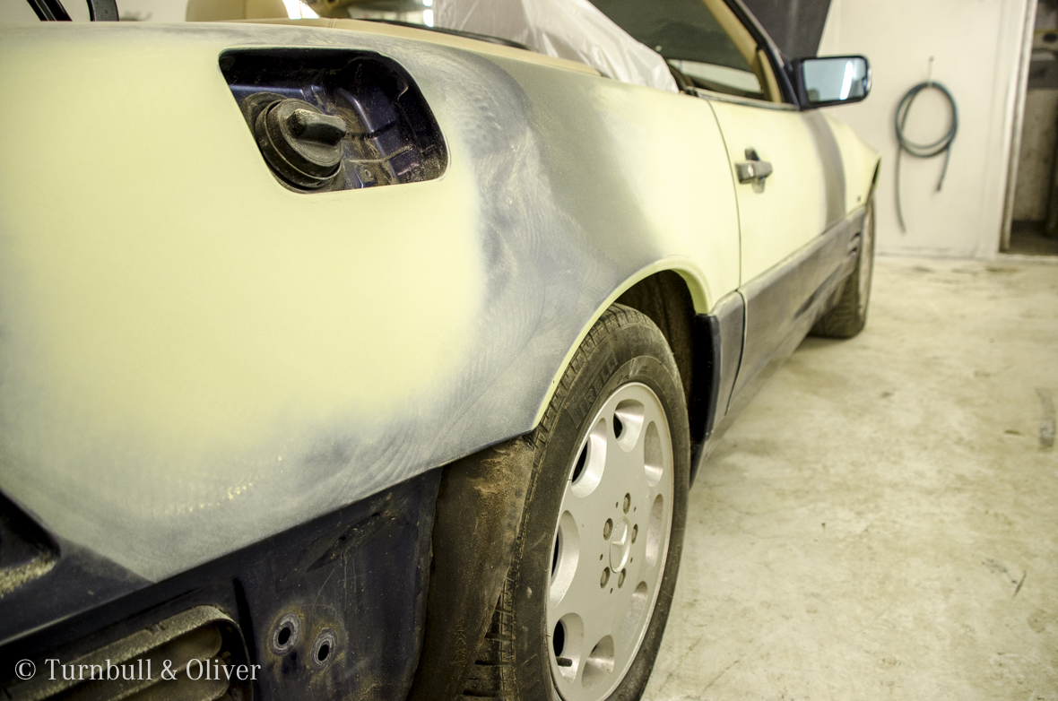 Restoration of a Mercedes Benz SL320   Turnbull & Oliver